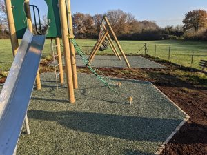 Folly fields play area with new surfacing