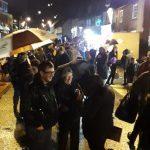 Despite the rain, everyone was in high spirits